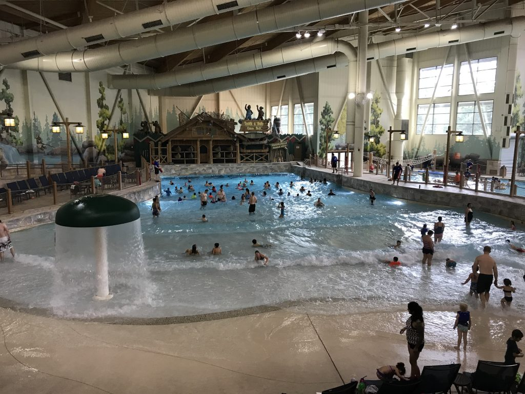 Wave pool at Great Wolf Lodge
