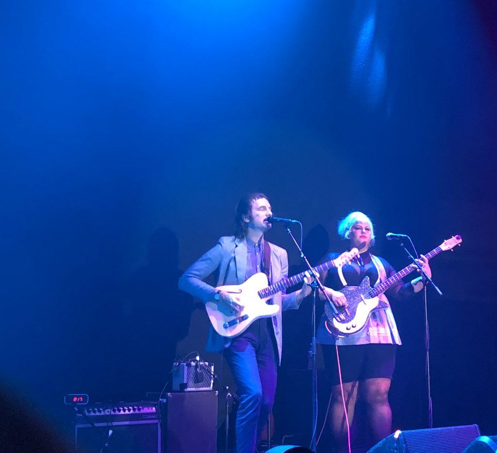 Shannon and The Clams performing at the Hollywood Palladium with Greta Van Fleet