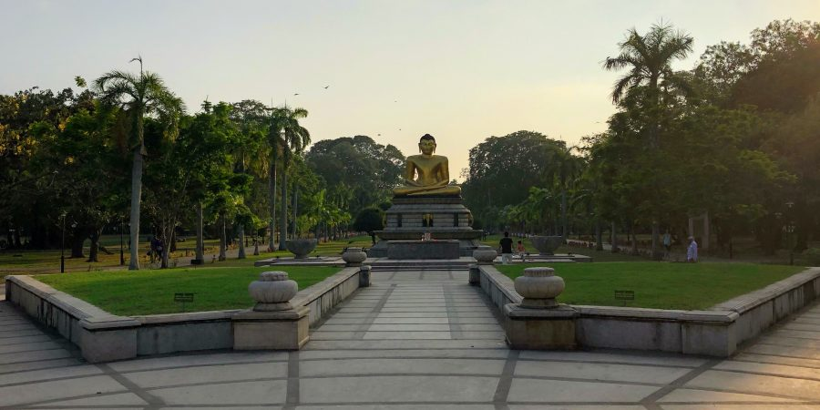 Buddhist Statue in Colombo, Sri Lanka