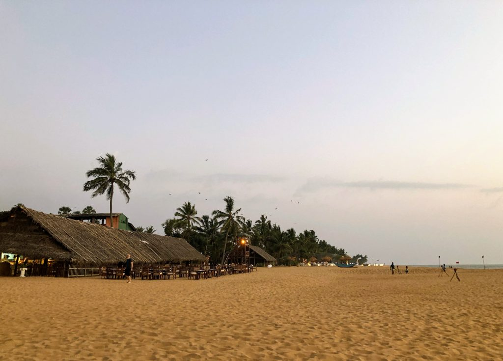 The beach in Colombo, Sri Lanka at Mount Lavinia Hotel